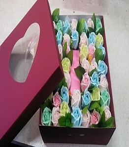 비누꽃 상자
