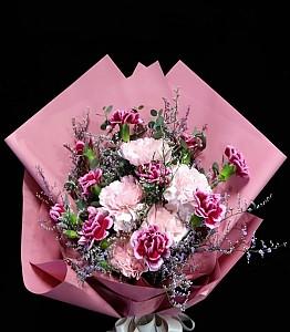 핑크포장 꽃다발